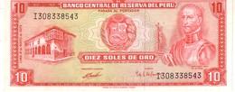 Peru P.100 10 Soles 1972 Unc - Perù