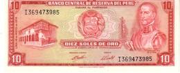 Peru P.100 10 Soles 1974 Unc - Perù