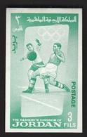 Jordan / Olympic Games Tokyo 1964 / Football, Soccer / Michel 439 B / MNH - IMPERFORATED - Ete 1964: Tokyo