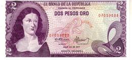 Colombia P.413  2 Pesos 1977  Unc - Colombia