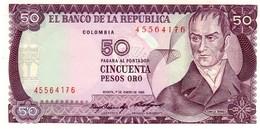 Colombia P.425 50  Pesos 1985  Unc - Colombia