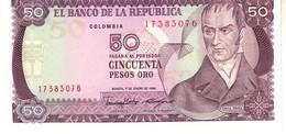 Colombia P.425 50  Pesos 1986  Unc - Colombia