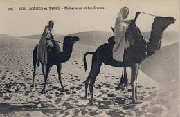 MARRUECOS , TARJETA POSTAL SIN CIRCULAR , SCENES ET TYPES - MÉHARISTES ET LES DUNES - África