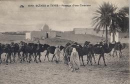 MARRUECOS , TARJETA POSTAL SIN CIRCULAR , SCENES ET TYPES - PASSAGE D'UNE CARAVANE - África