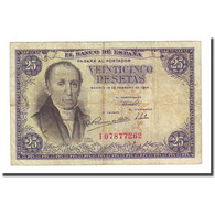 Billet, Espagne, 25 Pesetas, 1946-02-19, KM:130a, TB - [ 3] 1936-1975 : Regime Di Franco