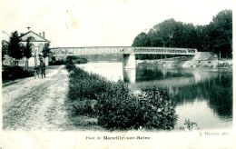 N°64343 -cpa Marcilly Sur Seine  -le Pont- - Autres Communes