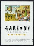 THEME TABLEAU étiquette De Vin BLANC MOELLEUX MONTGOLFIERE - Mongolfiere
