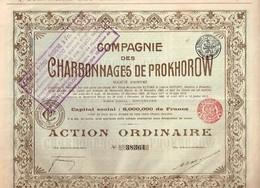 Action Ancienne - Compagnie Des Charbonnages De Prokhorow- Titre De 1912 - N° 38364 - Russie