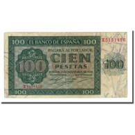 Billet, Espagne, 100 Pesetas, 1936-11-21, KM:101a, TTB - [ 2] 1931-1936 : Repubblica