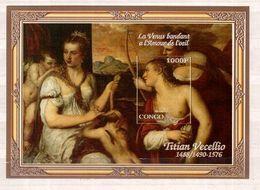 CONGO   Painting, Tiziano Vecellio,  SS  Imperf. - Fantasie Vignetten