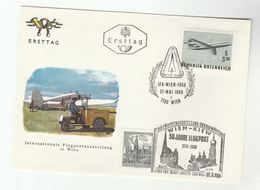 1977 AUSTRIA Special FLIGHT COVER To KIEV Ukraine Anniv IFA Vienna FDC Ilus Kiev Church Russia Ukraine Religion Aviation - Airplanes