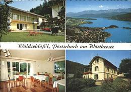 72065794 Poertschach Woerthersee Fremdenheim Waldschloessl Gaststube Panorama - Österreich