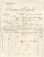 HUILERIE DES ALPINES-GUSTAVE BERTRAND   AUREILLE  1902  FACTURE - Francia