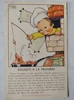 Illustrateur Beatrice Mallet. Margarine ASTRA. Recette Rougets à La Meunière - Mallet, B.