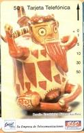 Peru - PE-M12A, Entel/RED, Tamura, Botella Escultorica Nazca, Ica., 50U, 10.000ex, 4/94, Used - Peru