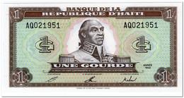 HAITI,1 GOURDE,1992,P.259,UNC - Haïti