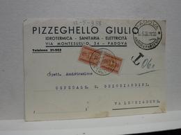 PADOVA  -- PIZZEGHELLO GIULIO -- IDRAULICO - Padova (Padua)