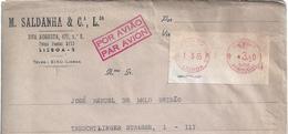 Excellent Mechanical Franchise Terreiro Do Paço,Lisbon 1965 Station.Portugal.Advertising Letter Airmail Berlin.2sc.Rare - 1910-... Republik