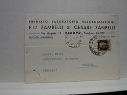 PADOVA  --   FRATELLI ZAMBELLI  -- VULCANIZZAZIONE - Padova (Padua)