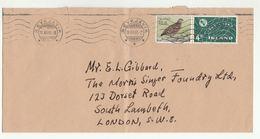 1966 ICELAND COVER ITU Telecom BIRD Stamps To GB Birds - 1944-... Republic