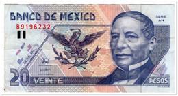 MEXICO,20 PESO,P.106c,,1998,VF,FEW PINHOLES - Messico