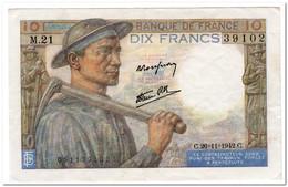 FRANCE,10 FRANCS,1942,P.99e,VF+,NO PINHOLES - 10 F 1916-1942 ''Minerve''