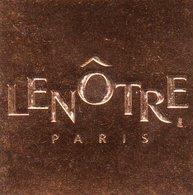 LENOTRE - Menus