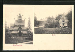 AK Gol, Stavekirke, Stabur, Stabkirche Und Holzhütten - Norvegia