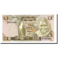 Billet, Zambie, 2 Kwacha, Undated (1980-88), KM:24c, TTB - Zambie