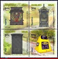 Ref. BR-3192 BRAZIL 2011 POST, MAILBOXES SEVEREAL TIMES, HISTORY, UPAEP, AMERICA SERIES, SET MNH 4V Sc# 3192 - Philatelie & Münzen