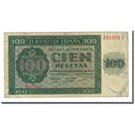 Billet, Espagne, 100 Pesetas, 1936-11-21, KM:101a, B+ - [ 2] 1931-1936 : Repubblica