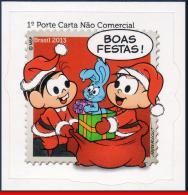 Ref. BR-3261 BRAZIL 2013 CHRISTMAS, MONICA E CEBOLINHA,, CHARACTER OF COMICS, HAPPY HOLIDAYS, MNH 1V Sc# 3261 - Christianity