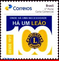 Ref. BR-V2017-24 BRAZIL 2017 LIONS, 100 YEARS OF LIONS, INTERNATIONAL, PERSONALIZED MNH 1V - Brazil