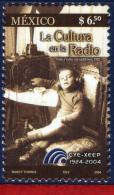 Ref. MX-2386 MEXICO 2004 TELECOMMUNICATION, CULTURE ON THE RADIO,, MI# 3097, MNH 1V Sc# 2386 - Telecom