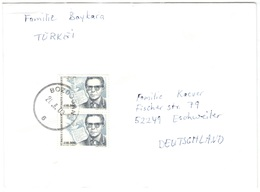 TURCHIA - Turkey - TURKIYE - 2003 - 2 X 400000 Arif Nihat Asya - Viaggiata Da Bozdoğan Per Eschweiler, Germany - 1921-... République