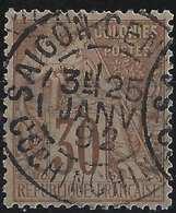 Colonies Générales N°55 Oblitéré Saigon Central /cochinchine Superbe Signé Calves - Réunion (1852-1975)