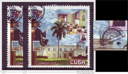 Cuba, Tabac, Tobacco, Cigare, Cigar, Timbre Sur Timbre, Stamp On Stamp, Palmier, Palm Tree, Palmtree, - Cuba