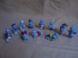 Petit Lot De 11 Hippopotames Kinder - Monoblocs