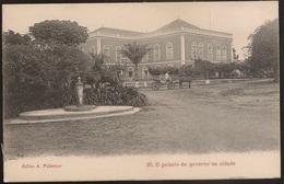 Postal S. Thome - São Tomé E Príncipe - O Palacio Do Governador Na Cidade (Ed A Palanque, Nº25) - CPA - Postcard Chariot - Sao Tome Et Principe