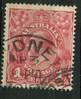 Australia 1914 1p King George V Issue #21 - 1913-36 George V : Têtes