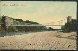 °°° 11659 - SCOTLAND - SUSPENSION BRIDGE , FORRES - 1908 With Stamps °°° - Moray