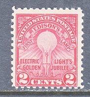 U.S.  654   Perf  11   **  EDISON  ELECTRIC  LIGHT - United States