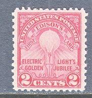 U.S.  655   Perf  11 X  10 1/2   **  EDISON  ELECTRIC  LIGHT - United States