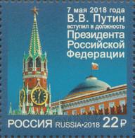 2018-2343 Russia Russland Russie Rusia 1v Inauguration Of The President Of The Russia  Vladimir Putin Mi 2557 MNH - 1992-.... Federazione