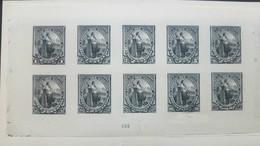 O) 1894 EL SALVADOR, ABN BLACK DIE PROOF MOUNTED IN CARD BOARD XF - LIBERTY SCOTT A26. NICE SET - El Salvador