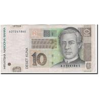 Billet, Croatie, 10 Kuna, 2001-03-07, KM:38, TTB - Croatie