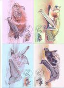 2017. Moldova, Red Book, The Bats, 4 Maxicards, Mint/** - Moldova
