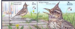 2017. Belarus, Bird Of The Year, Stamp With Label, Mint/** - Belarus