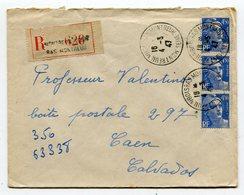 SEINE De MONTREUIL SOUS BOIS  BAS MONTREUIL  Env.recom. De 1947   Avec Dateur   A 4 - Marcophilie (Lettres)