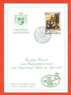 AUGURALI-BUON NATALE-BUON ANNO-CRISTIANUSIMO-FUURSTENTUM LIECHTENSTEIN - 1990 - Liechtenstein